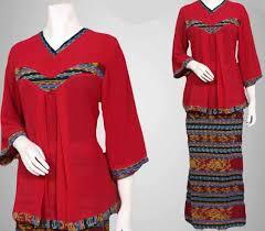 model baju 6 ide model baju batik kerja untuk wanita