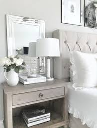 Bedside Table Ideas Side Table Clear Glass With Brass Accents Chic And Feminine