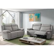 canapé gris perle enviedemeubles com canapé relax 2 places en cuir apollo
