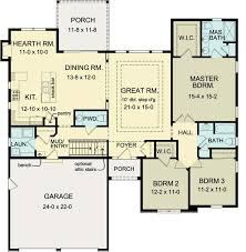 4 Bedroom Ranch House Plans With Basement First Floor Plan Of Ranch House Plan 54075 Finished Basement 2