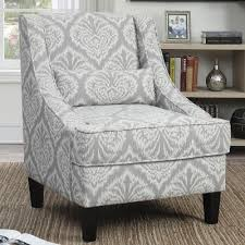 Grey And White Accent Chair Impressive On Gray And White Accent Chair Grey And White Pattern