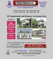 1 Bedroom Apartments Winona Mn Website Design Site Credits Baker Apts