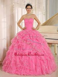 quinceanera pink dresses brand new pink ruffled beaded quinceaneras dresses 166 38
