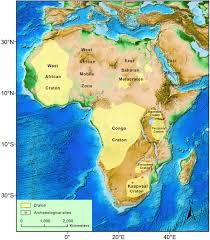 Map Of Tanzania Africa by Figure 5 Sketched Geologic Map Of Africa Showing The
