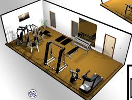 Home Gym Floor Plan Home Gym Home Gym Design Power Tower Free Weights Rowing