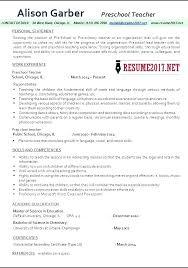 preschool resume template preschool resume sle nursery resume preschool