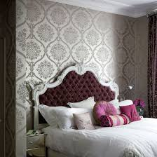 Wallpaper For The Bedroom Behind The Bed The Inspired Room - Bedroom wallpaper idea