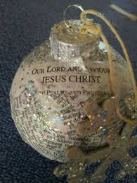 easy ornament with scripture verses inside