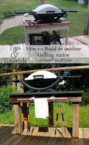 Diy Backyard Grill by How To Build An Outdoor Grill Station Diy Wood Working Tutorial