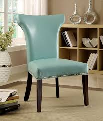 Aqua Accent Chair Teal Accent Chair Armless Complements Rustic Pieces Wonderfully