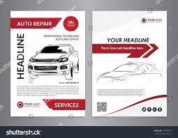 set a4 auto repair business layout stock vector 572780743