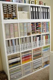 Office Wall Organization System by Paper Craft Storage In Ikea Shelving Stamp Pad Markers And Storage