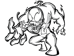 venom carnage coloring pages spiderman printable sheets