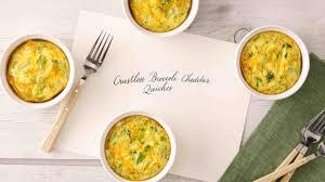 crustless broccoli cheddar quiches