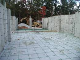 building a timberframe home from scratch pouring the basement slab