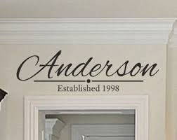 family wall decals personalized family name decal family