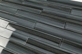 Black Glass Tiles For Kitchen Backsplashes by Inspirations Black Glass Tile With Black Deco Glass Mosaic Tile H