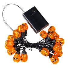 battery operated pumpkin lights led halloween lights