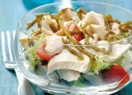 salicorne cuisine salade de thon et salicornes