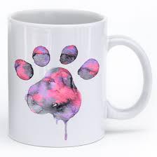 Animal Mug Watercolor Paw Mug U2013 Iheartdogs Com