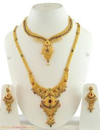 small gold necklace sets images Bridal gold necklace sets jpg