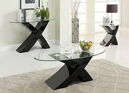 Black Gloss Glass Coffee Table Designer Black X High Gloss Glass Coffee Table Modern