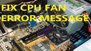 Cpu Over Temperature Error Press F1 To Resume Fix Cpu Fan Error Message Of Your Computer Youtube