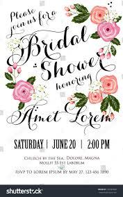 Bridal Invitation Cards Bridal Shower Invitation Card Stock Vector 155387660 Shutterstock