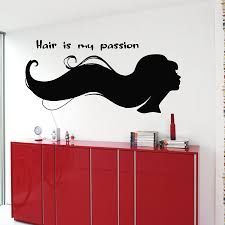 hair salon wall decals woman quote hair is my passion zoom