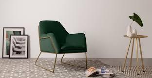 Armchair Velvet Frame Armchair Pine Green Cotton Velvet Bright Gold Frame Made Com