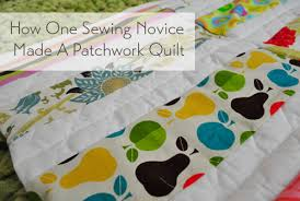how one sewing novice made a modern patchwork quilt house
