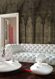 canap chesterfield cuir blanc le canapé capitonné en 40 photos pleines d idées