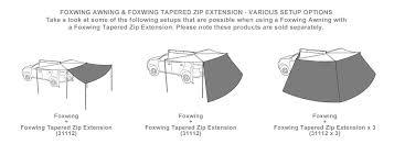 Fox Awning Foxwing Tapered Zip Extension 31112 Rhino Rack