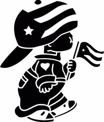 Flag Car Decals Puerto Rico Boy Car Decal Flag Boy Sticker Boricua With Flag Vinyl
