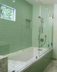 tub shower combo ideas white porcelain bathtub on beige ceramic