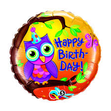 birthday helium balloons helium balloon happy birthday owl gifts co uk