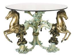 iron horse table base 3 horses bronze coffee table bronze sculpture