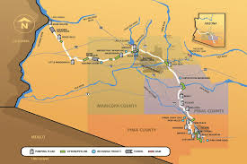 Arizona Rivers Map by Central Arizona Project