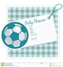 Free Baby Shower Invitation Cards Soccer Baby Shower Invite Card Royalty Free Stock Photo Image