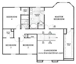 house plans with 4 bedrooms black ranch floor plan kb home model 2886 upstairs