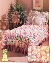 rainbow of butterflies crochet pattern bedspread blanket throw