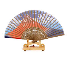 Chinese Wall Fan by Japanese Silk Fan Fujiyama Hand Fan Thirty Six Views Of Mount Fuji