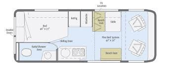 class b rv floor plans travato floorplans winnebago rvs