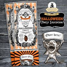 Birthday Halloween Party Invitations by Halloween Ticket Invitation Halloween Party Invitation Halloween