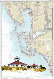 Watercolor Florida Map by Nautical Chart Art Boca Grande Sanibel Gulf Of Mexico
