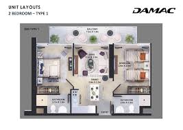 golf vita 1 bedroom apartment type 2 floor plan