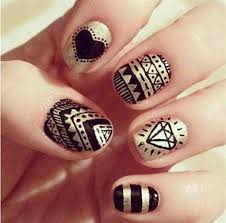 simple nail art lines how you can do it at home pictures