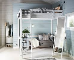 Loft Bedroom For Small Space Bedroom Small Bedroom Decorating Tips Using White Wooden Loft Bed