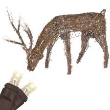 Lighted Deer Lawn Ornaments by 28 Grapevine Deer Christmas Decorations Celebrations 48