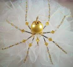 lavender and pink spider ornament and by thespiderlady